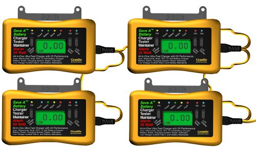 Save A Battery 8250 Quad 4-Bank 12-Volt Battery Charger Maintainer and Tester Pack