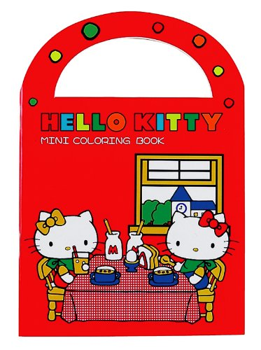 Hello Kitty Mini Coloring Book: Red