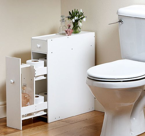 Great Ideas Slimline Space Saving Bathroom Storage Cupboard Cabinet