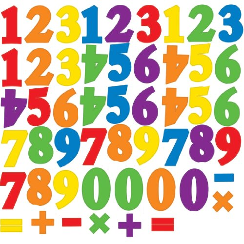 RoomMates RMK1280SCS Primary Numbers Peel & Stick Wall Decals