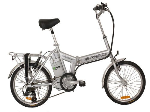 E-moto Traveler 1.0 Electric Folding Bike - Silver