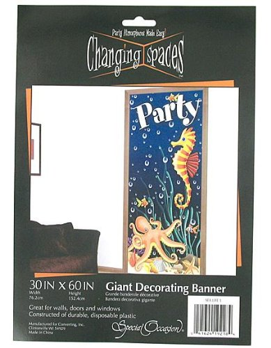 Sea Life Giant Decorating Banner 30 X 60 Inch