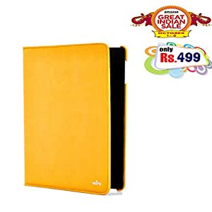 RSAFE Anti-Radiation 360 Degree Rotating PU Leather Smart Case Cover For Apple Ipad 4 (yellow)