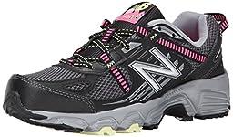 New Balance Women\'s WT410V4 Trail Shoe, Black/Pink, 9.5 B US