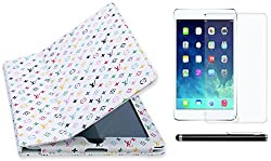 BMS Flip Book Case Cover For Ipad 2/3/4 with Screen Guard with Stylish Combo set