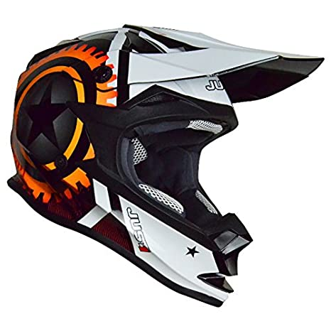 Just 1 casque casque 606321018100304 j32 motostar agent, orange, taille m :