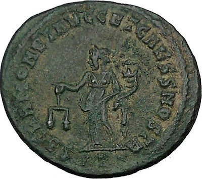 GALERIUS as Caesar Big Rare Ancient Roman Coin Moneta Funds protectress i44785