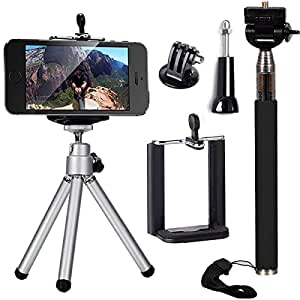 3in1 accessori selfie stick monopiede telescopico mini treppiedi telefono supporto per. Black Bedroom Furniture Sets. Home Design Ideas
