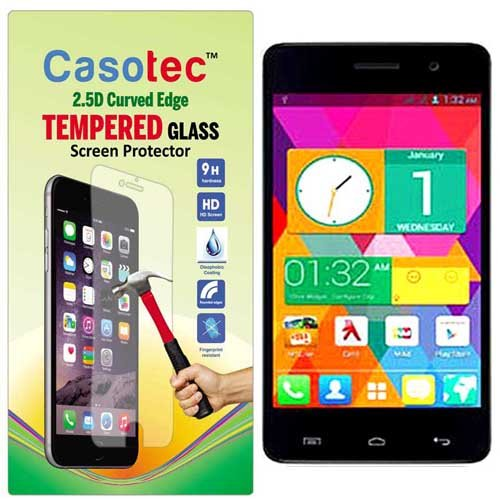 Casotec 2.5D Curved Edge Tempered Glass Screen Protector for Micromax Unite 2 A106