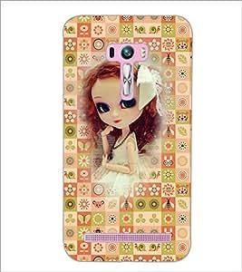 PrintDhaba Sweet Doll D-3159 Back Case Cover for ASUS ZENFONE SELFIE ZD551KL (Multi-Coloured)