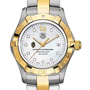 University of Wisconsin TAG Heuer Watch - Ladies Two-Tone Aquaracer Watch by TAG Heuer