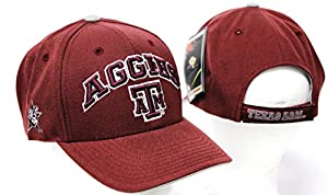 New NCAA Texas A & M Adjustable Velcro One Fit Cap Embroidered Hat