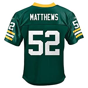 Clay Matthews Green Bay Packers Reebok Youth