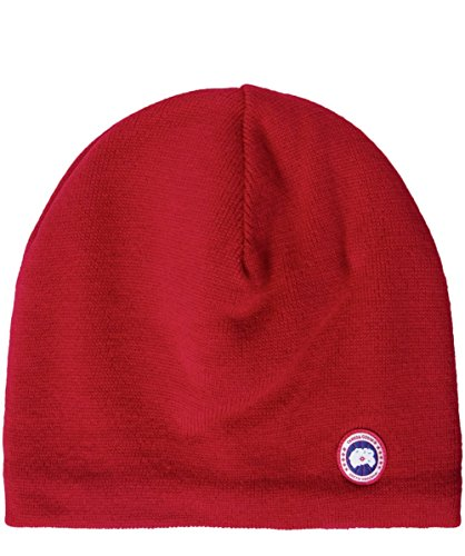 Canada Goose Men's Merino Wool Beanie, Redwood, One Size (Canada Goose Merino Wool Hat compare prices)