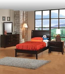 phoenix twin size bedroom set in cappuccino