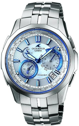 [カシオ]CASIO 腕時計 OCEANUS オシアナス Manta タフソーラ-  電波時計 MULTIBAND 6 OCW-S1400PW-7AJF メンズ