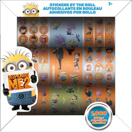 Despicable Me 2 Stickers by the Roll - 1000 Stickers