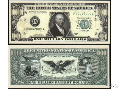 (25) Patriot Million Dollar Bill - 1
