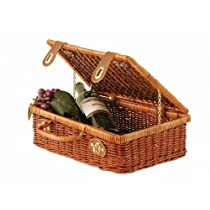 Wald Imports 13-Inch Wicker Picnic Basket