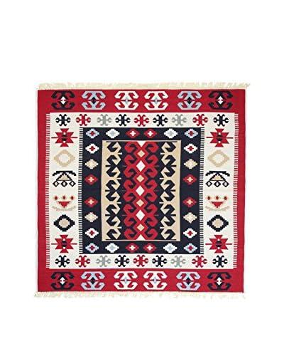 Tapis a Porter Teppich Doubleface Selim rot/elfenbein/mehrfarbig 120 x 180 cm