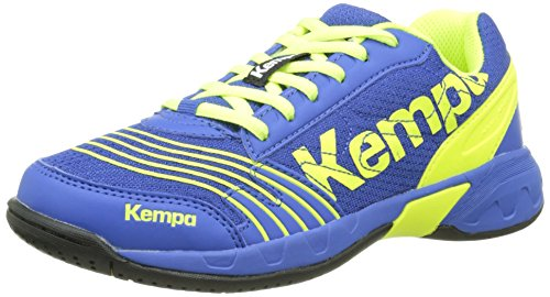 Kempa - ATTACK ONE JUNIOR, Sneakers unisex bambino, color Multicolore (royal/fluo gelb), talla 28