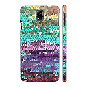 Enthopia Designer Hardshell Case Coloured Mosaic 2 Back Cover for Samsung Galaxy Note 4