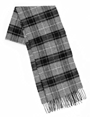 Pure Lambswool Overchecked Scarf