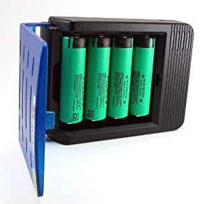 Smart Li-ion 4 Channels Battery Charger and FOUR 3100mAh Panasonic 18650 Lithium-ion Batteries Charging Kit