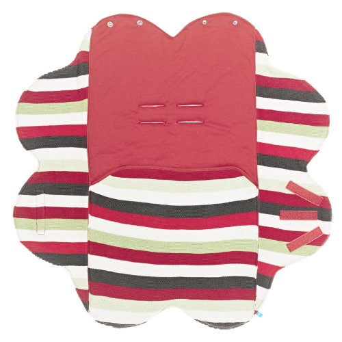 Wallaboo Baby Blanket, Poppy Red, 0-12 Months