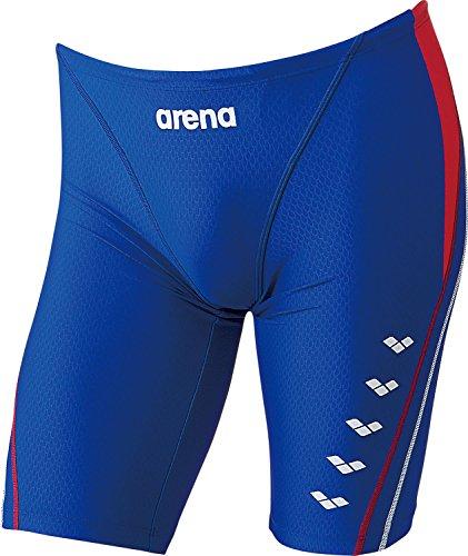 arena(アリーナ) メンズ 練習用 水着 マスターズSP スパッツタイプ アクアトレーニング ブルー×レッドR SAR-6137 BURD SS