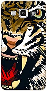 The Racoon Lean printed designer hard back mobile phone case cover for Samsung Galaxy E7. (Amber Snar)
