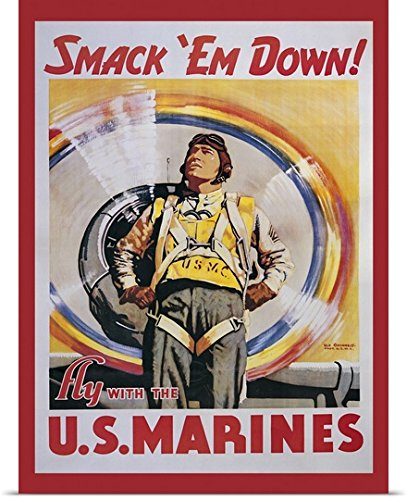 vintage-apple-collection-poster-print-entitled-smack-em-down-vintage-marines-poster