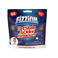 Fizzion Pet Stain and Odor Remover - 8 Tablet Pouch - Best Cat and Dog Urine and Feces Cleaner