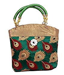 Kuber Industries Women's Mini Handbag 10*10 Inches (Green)