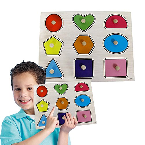 Toy-Cubby-Kids-Toddler-Wooden-Pegged-Large-Shapes-Puzzle-Board-Set-2-to-4-inches-Large-Shapes-puzzle-piece