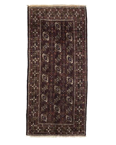 Darya Rugs Authentic Persian Tribal Rug, Red, 3′ 7″ x 7′ 10″