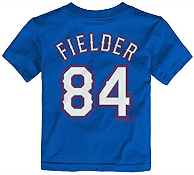Majestic Toddler Premium Fielder Player N&N Tee S/S, Alt - Texas Rangers