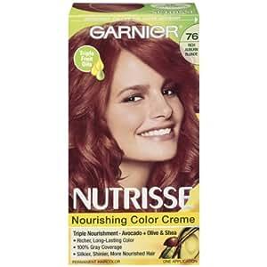 Garnier Nutrisse Nourishing Color Creme, 76 Rich Auburn Blonde
