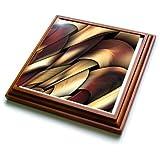 """3dRose trv_4062_1 Digital Artwork Design Trivet with Ceramic Tile, 8 by 8"""", Brown"""