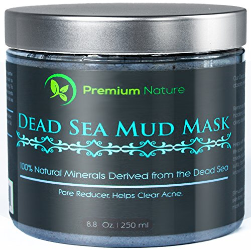Dead Sea Mud Mask 8 oz, Melts Cellulite, Treats Acne and Problem Skin, Also Acts as Pore Minimizer and Wrinkle Reducer, By Premium Nature (Nuskin Make Up compare prices)