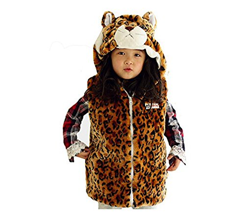 Dealzip Inc® Cute Animal Penguin Warm Waistcoat Hooded Vest for Kids-Size:S