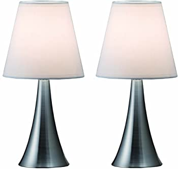 2-Pack Simple Designs Mini Table Lamp