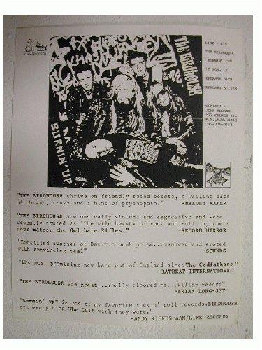 The Birdhouse Handbill Poster Burnin' Up 1988
