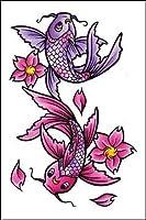 """Amazon.com: Ed Hardy Koi Fish Temporary Body Art Tattoos 3"""" x 4"""