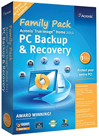 Acronis True Image Home 2012 Family Pack  (3-Users) [Old Version]