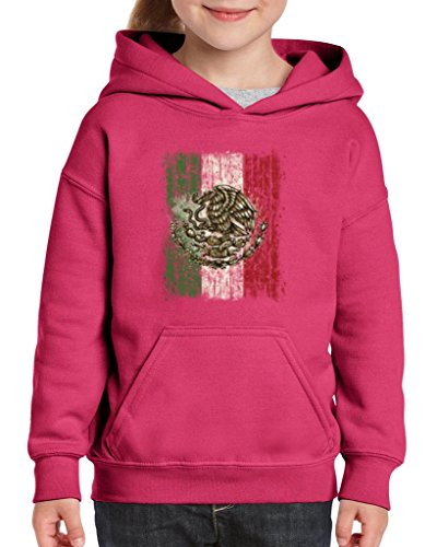 [Artix Mexican Flag Distress Cinco de Mayo Mexican Poncho Mexico Couples Gifts Unisex Hoodie For Girls and Boys Youth Kids Sweatshirt Clothing Small Heliconia] (Costumes Halloween Yahoo)