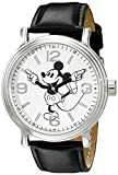 Disney Men's W001853 Mickey Mouse Analog Display Analog Quartz Black Watch