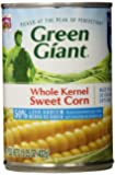Green Giant Whole Kernel Corn, Golden Low Sodium, 15.25 Ounce (Pack of 12)