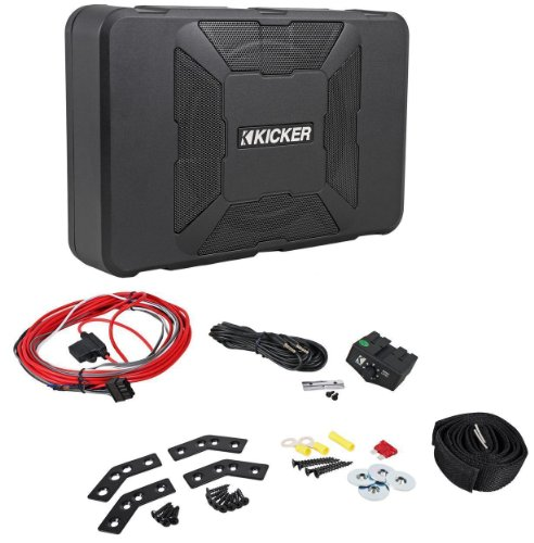"Kicker 11Hs8 Hideaway 8"" 150 Watt Rms Ultra-Compact Powered Subwoofer System Designed For Tight Locations"