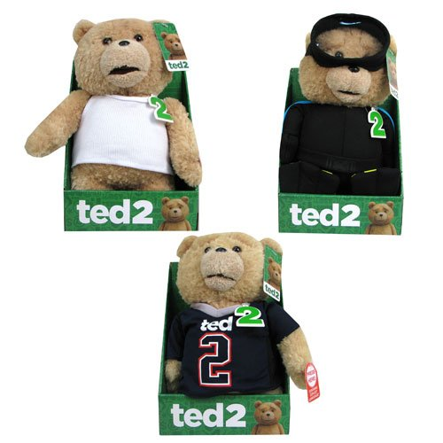 Ted 2 Ted 11-Inch R-Rated Talking Plush with Outfits Set